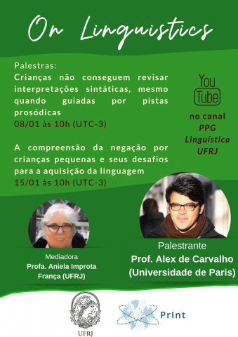 Palestra On Linguistics - 08/01/2021 e 15/01/2021